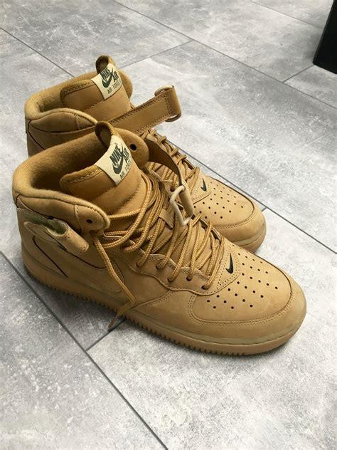 Nike 1 Mid Flax Premium Originalsepatu Nike One Brown nike air 1 mid 07 premium nike dunk daktari 224 vendre