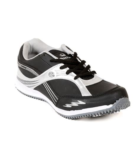 black leather sports shoes buy daxter black synthetic leather sport shoes for