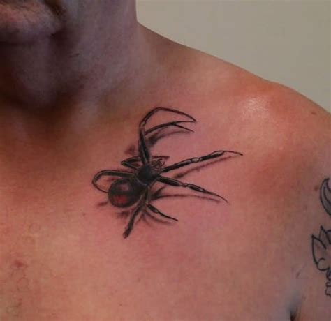 tattoo on front shoulder arachnids on front shoulder for