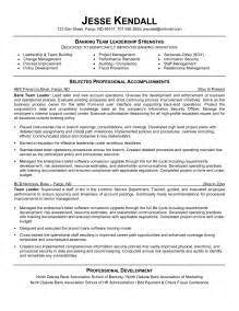 Cover Letter For Team Lead Position by Leadership Skills Resume Sle Leadership Resume Section