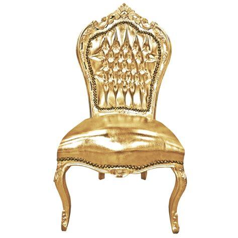 chaise style baroque chaise de style baroque rococo simili cuir dor 233 et bois dor 233