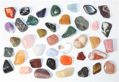 40 different semiprecious tumbled stones collection