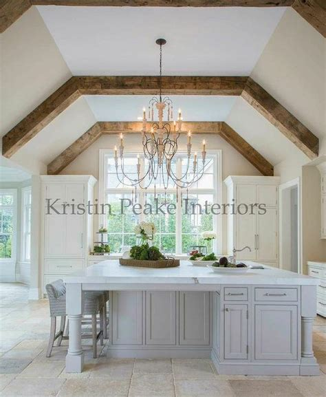 vaulted ceiling beams kitchen vaulted ceiling with wood beams transitional