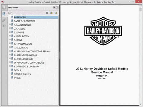 Harley Davidson Softail 2013 Service Manual