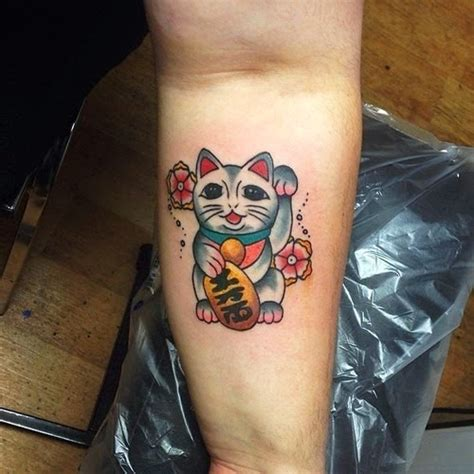 lucky tattoo designs lucky cat tattoos designs ideas and meaning tattoos for you