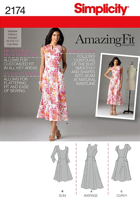 pattern review simplicity amazing fit simplicity 2174 misses miss petite amazing fit dresses
