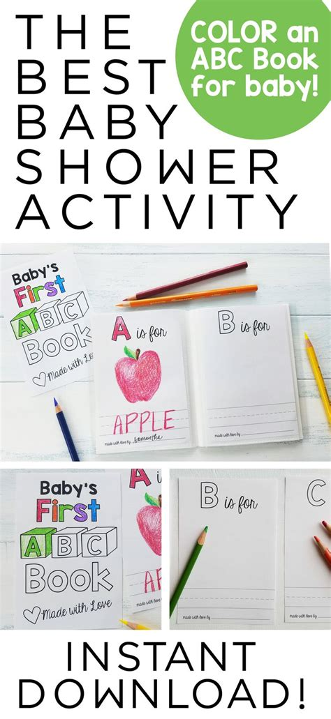 baby shower booklet template 29 images of abc book page template infovia net