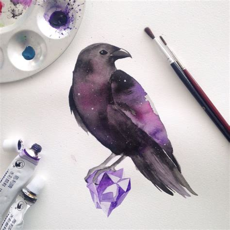watercolor tattoo raven best 20 ideas on tattoos