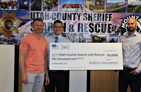 Utah County Search Utah County Search And Rescue To Receive 10 000 Donation From Insure Pro Powered By