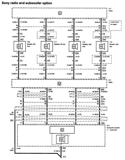 radio wiring schematic stating   wire