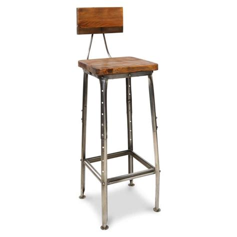 Wooden High Stool Sustainable Mango Wood High Stool Indica