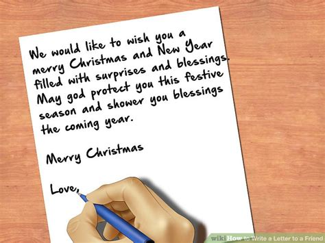Closing Letter Blessings How To Write A Letter To A Friend With Pictures Wikihow