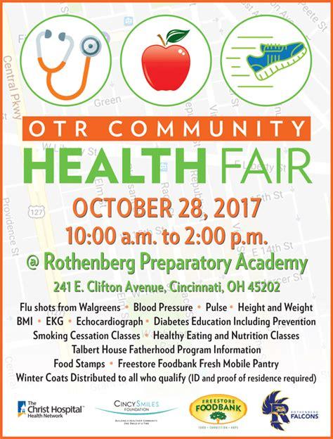 Otr Community Health Fair Gt Freestore Foodbank Donate Cincinnati Community Health Fair Flyer Template