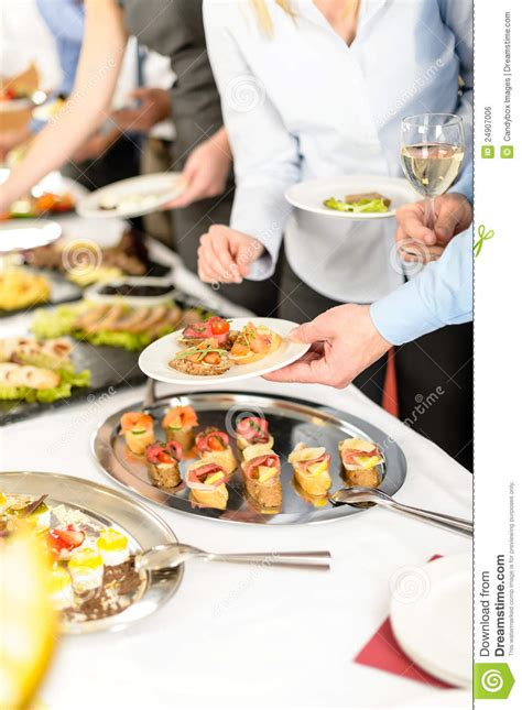 snacks buffet at business company meeting royalty free