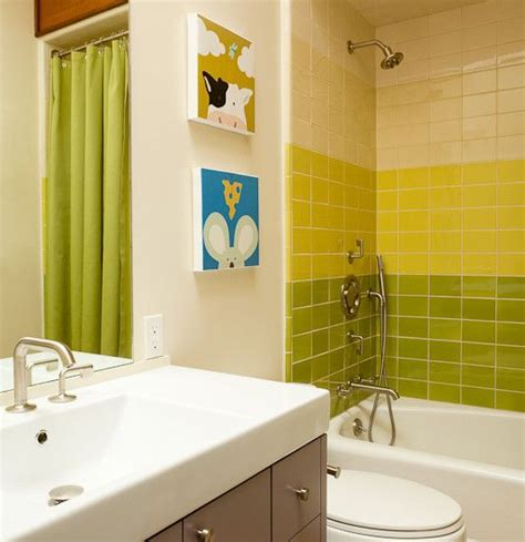 lime green and grey bathroom yellow bathroom tile gray bathroom tile lime green