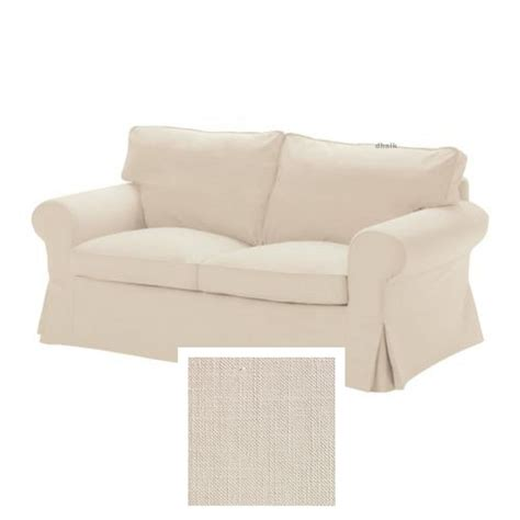 loire country light beige linen ikea ektorp 2 seat sofa slipcover loveseat cover svanby beige linen blend