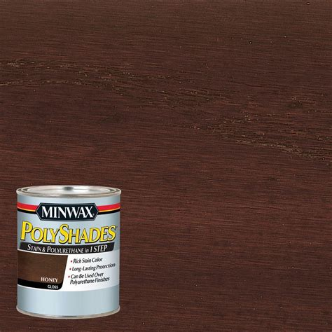 minwax 1 qt wood finish golden oak based interior stain 70001 the home depot