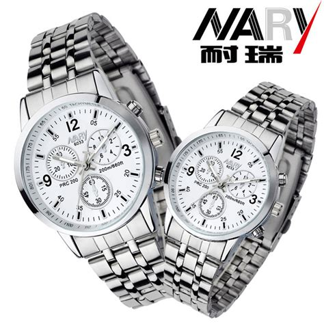nary jam tangan analog wanita stainless steel 6033 white silver jakartanotebook