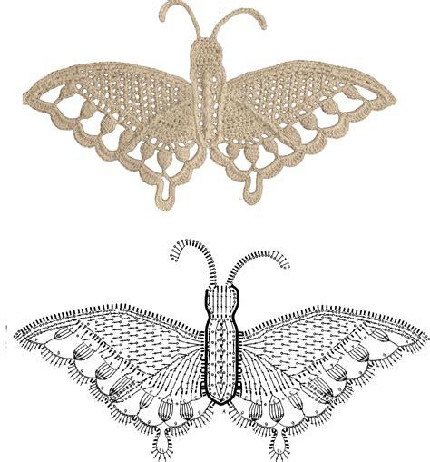 cornici sciarpe farfalle all uncinetto schemi
