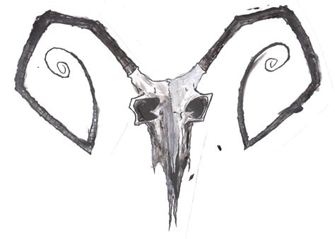 goat skull by ratsamsa on deviantart