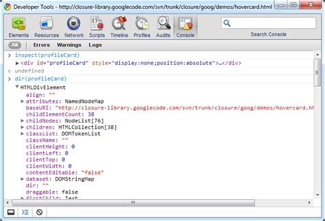 console log object javascript safari webkit s console log dom node as
