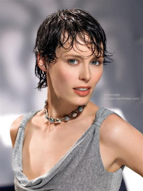 the wet look for black short hair wet look for short hair with modern styling