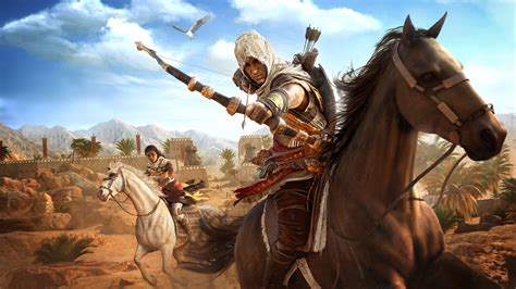 assassins creed origins bayek  aya hd  wallpaper