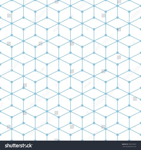 hexagonal pattern grid hexagonal grid designvector seamless pattern stock vector