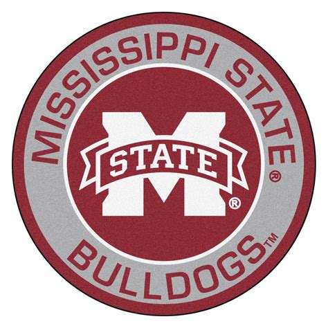 Unique Doormats by Mississippi State University Bulldogs Logo Roundel Mat 27 Quot