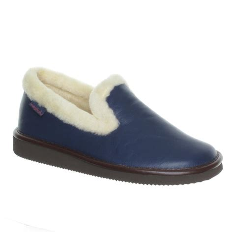 navy slippers moshulu sweet or navy leather slipper moshulu