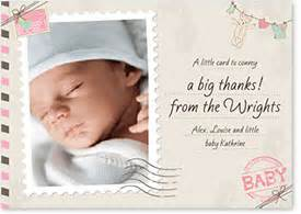 post age baby thank you cards sts unbelieveable new innovation great exle design