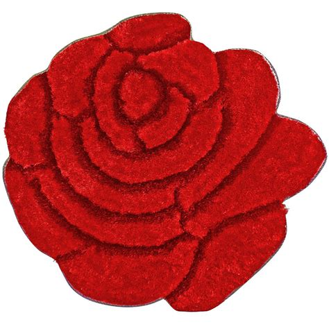 flower shaped floor ls nicerug 3d area rug 35 quot diameter shaggy and cozy red