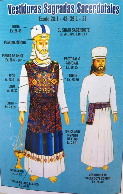 las vestiduras del sumo sacerdote de israel el santuario terrenal