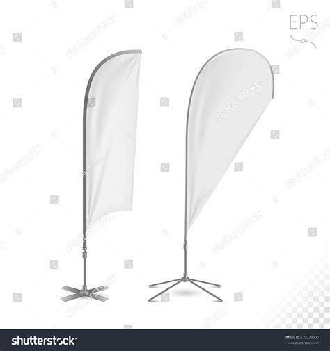 Outdoor Feather Flag Advertising Banner Shield Stock Vector 579229900 Shutterstock Feather Flag Design Template