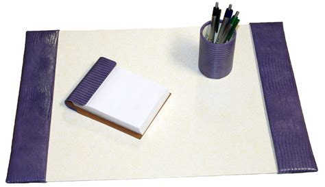 Small Desk Pad Small 3 Croco Grain Leather Desk Pad Sets