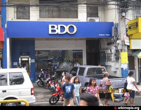 banco de oro bdo antipolo bank