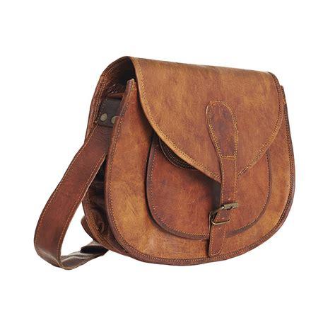 vintage leather saddle bag large by vida vida