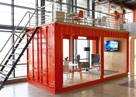 Room In A Box Interior Design by An Outside The Box Office With A Waiting Room Inside A Shipping Container