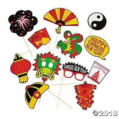 free printable chinese new year photo booth props chinese new year photo stick props