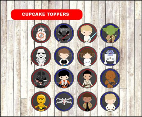 printable lego star wars cupcake toppers star wars chalkboard cupcakes toppers printable star wars