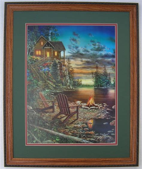 artwork home decor jim hansel hunting lodge prints framed country pictures