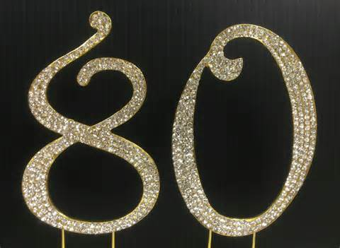 cake topper numbers gold rhinestone number 80 cake topper 80th birthday