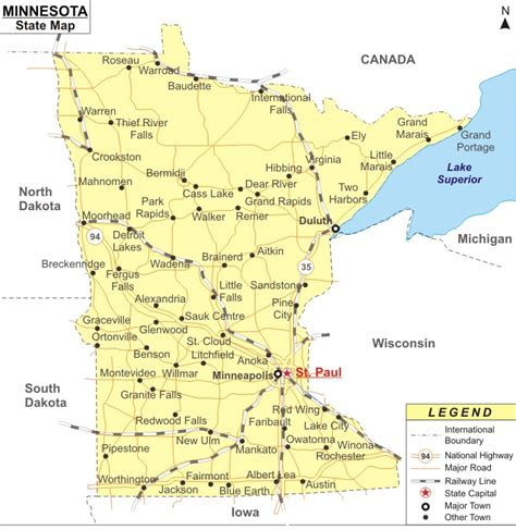 map of minnesota cities minnesota state major cities map pictures to pin on pinsdaddy