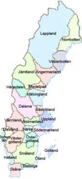 schwedische len landkarte schweden karte der provinzen weltkarte