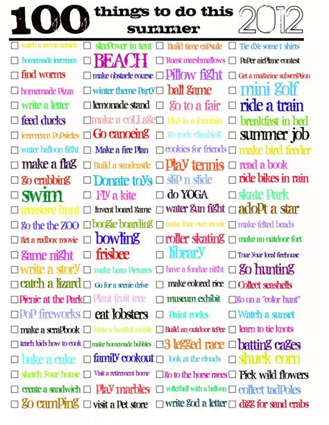 most popular things for kids 7 free summer bucket lists to make the most of your free