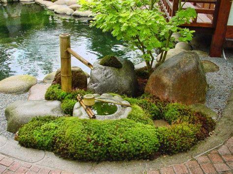 japanische gärten gestalten japanischer garten bambus brunnen gestalten natursteine