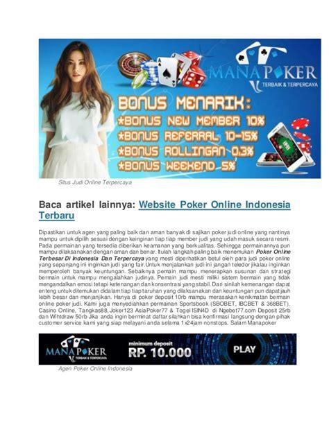 Poker online terbesar di indonesia dan terpercaya