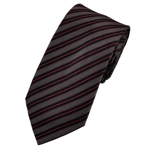 black magenta pink patterned striped silk tie from ties