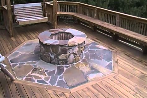 building  fire pit   deck youtube