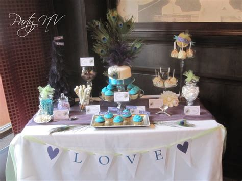 bridal shower table decorations bridal shower dessert table ideas photograph peacock love